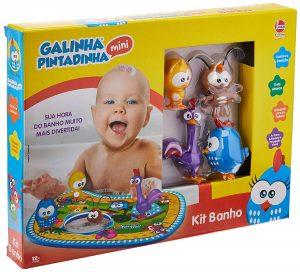 kit para banho galinha pintadinha 300x272 - Brinquedos para o banho do bebê