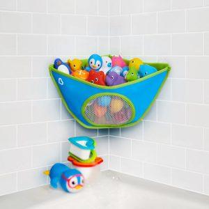 organizaorganizador de brinquedos de banho munchkin azul 300x300 - Brinquedos para o banho do bebê